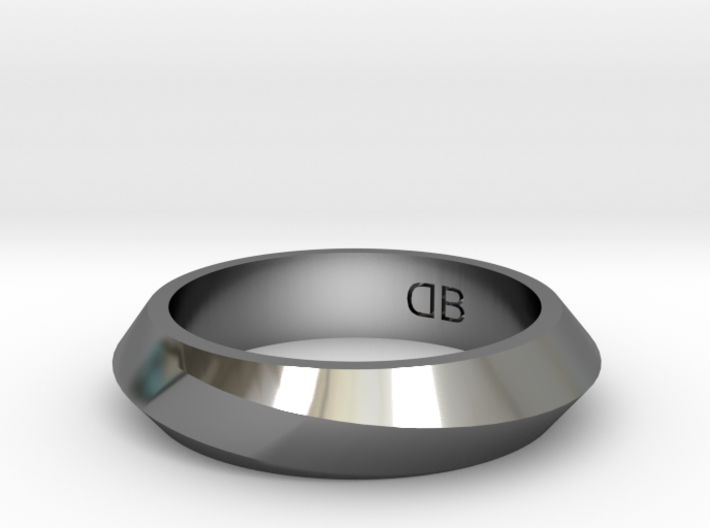 Infinity Ring - Size 8 3d printed