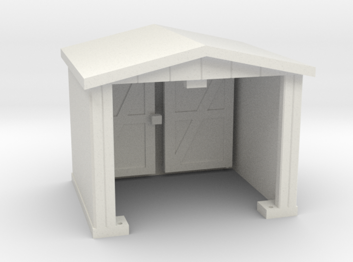 Shack - Opening Doors - HO 87:1 Scale 3d printed