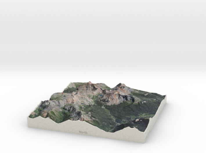 8'' Trout Lake, Colorado, USA 3d printed