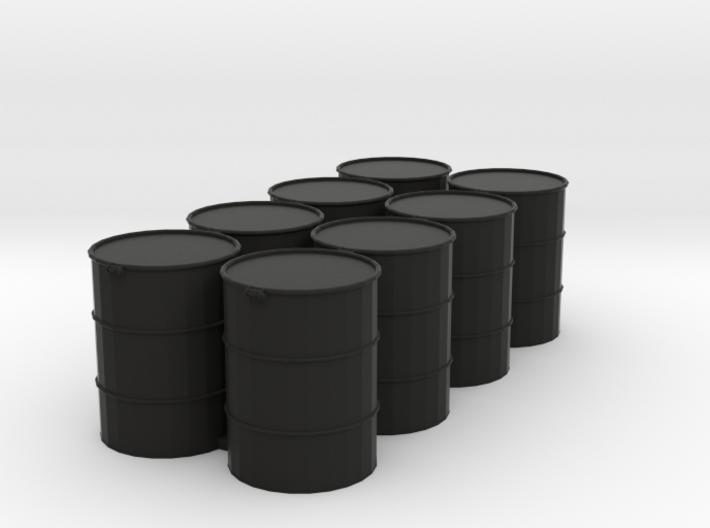 8 Drums, 55 Gallon, Standard, 1/64 3d printed