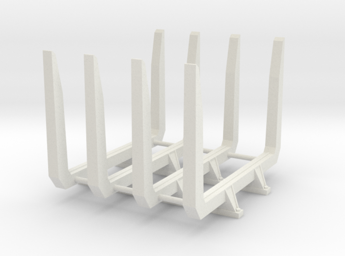 1/16 Short logger log bunks 3d printed