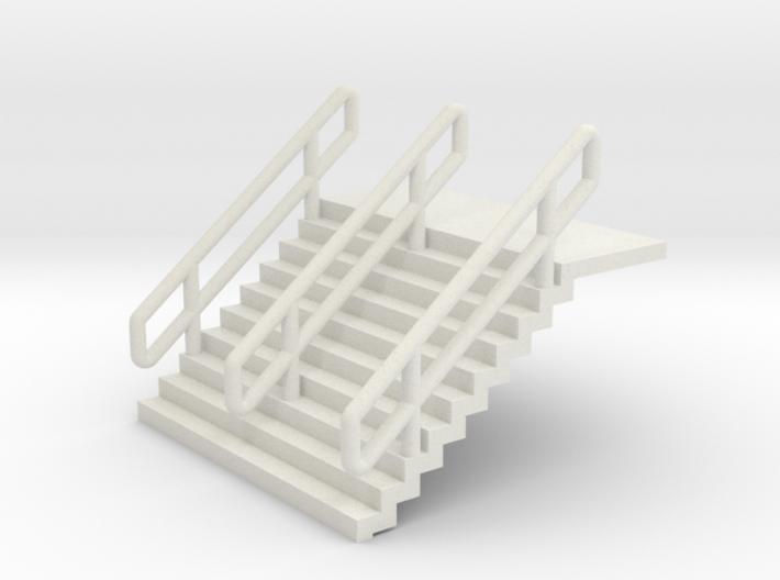 N Scale Stairs H12.5mm + 6mm Platform 3d printed