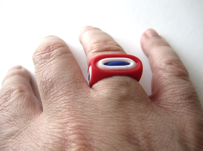 Nested Rings: Outer Ring (Size 10) 3d printed Within the set of 3 nested rings