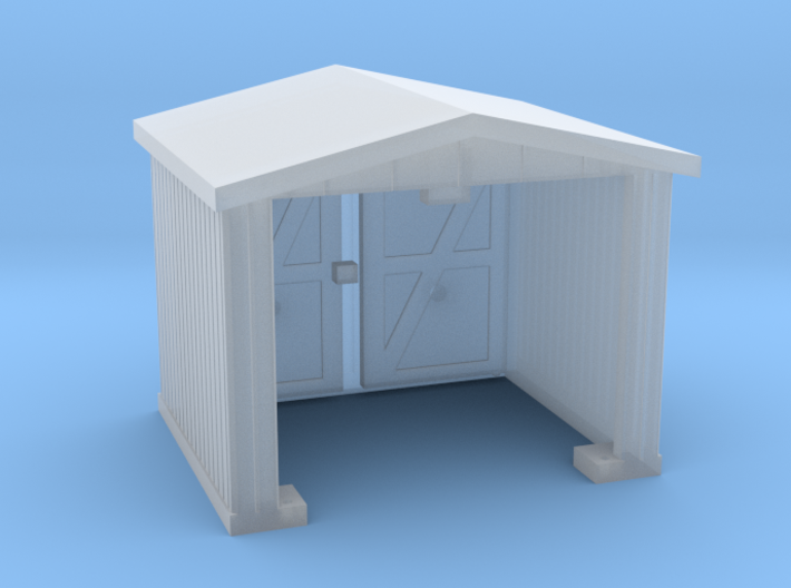 Shack - Opening Doors - N 160:1 Scale 3d printed