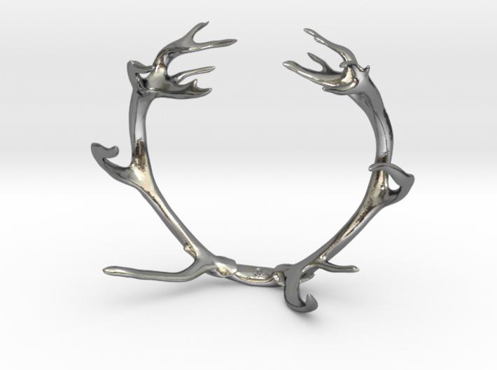 Red Deer Antler Bracelet 80mm 3d printed