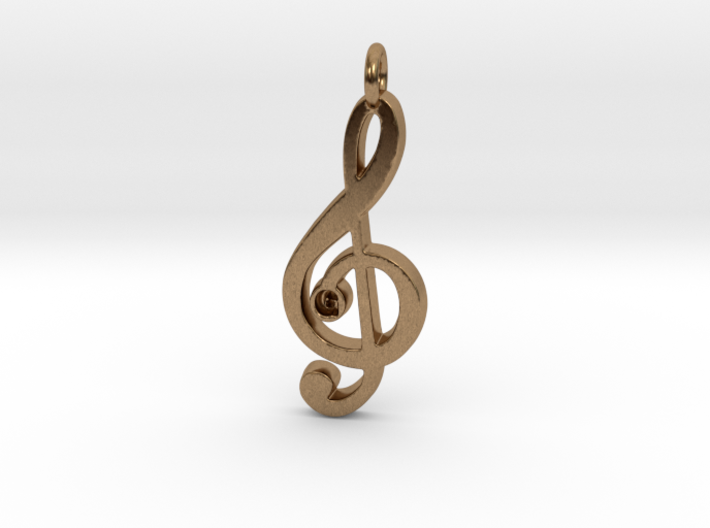 G Clef Pendant with «G» 3d printed