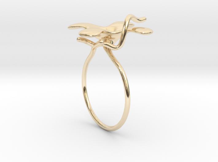 Flower ring - 16mm 3d printed