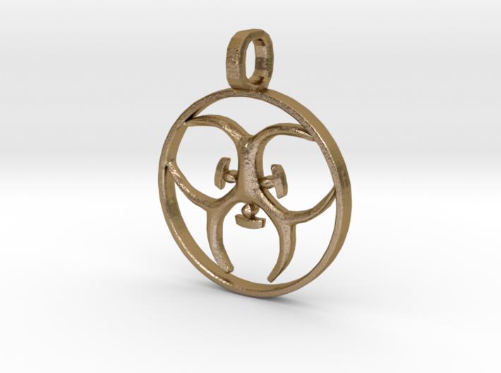 [The 100] (Small) Trigedakru Symbol Pendant 3d printed