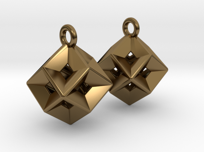 Tessellating Earrings - Metal 3d printed