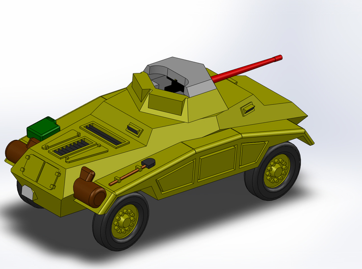 Le Panzerspähwagen 4-Rad MG 1/285 6mm 3d printed