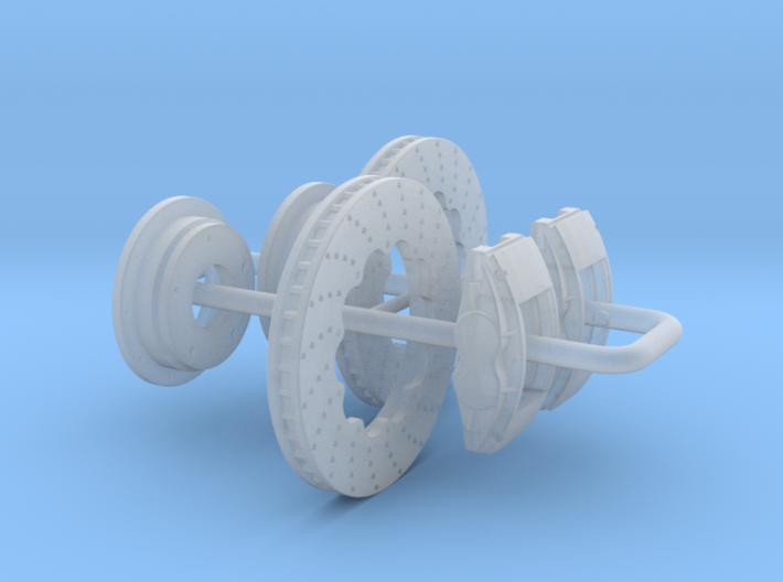 1/24 Modern 11p6 Inch Diam 4 Piston Disk Brake Set 3d printed