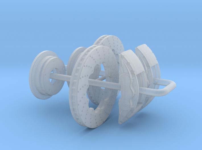 1/32 Modern 11.6 Inch Diam 6 Piston Disk Brake Set 3d printed
