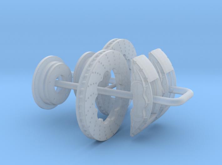 1/24 Modern 11.6 Inch Diam 6 Piston Disk Brake Set 3d printed