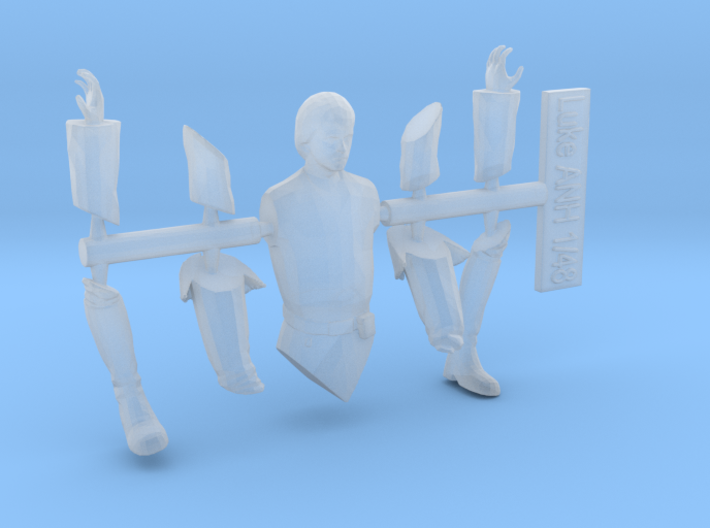 1:48 Luke ANH Separated for DeAgo/Hasbro Falcons 3d printed