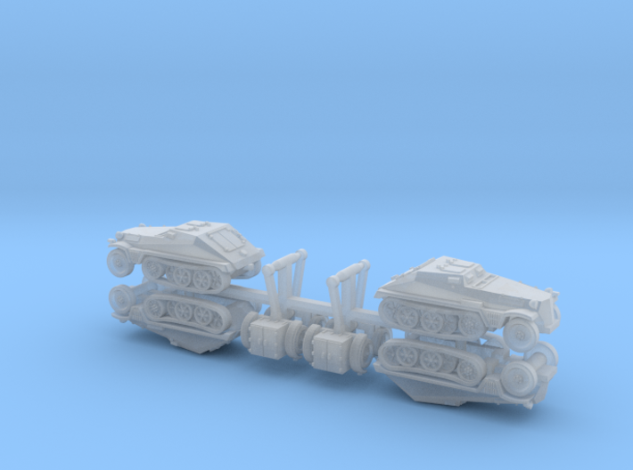 German sd.Kfz. 252 with sd.Ah. 32 1/285 6mm 3d printed