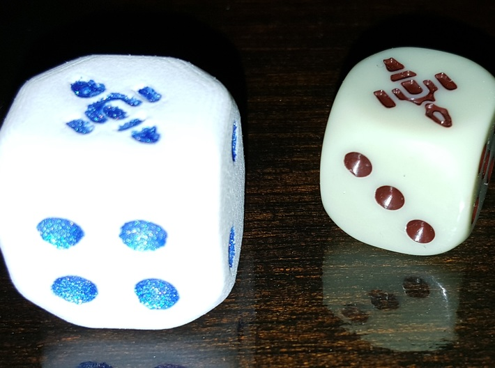 Dice 20mm 3d printed
