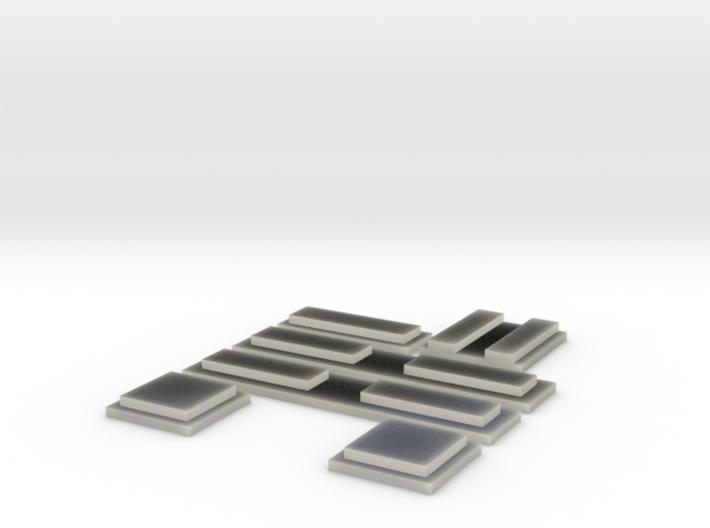 Fenstereinsätze für Aufbau Rescue 1 FDNY 3d printed