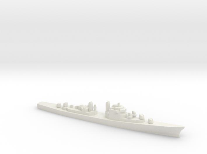 USS DL-01 Norfolk, 1/1800 3d printed