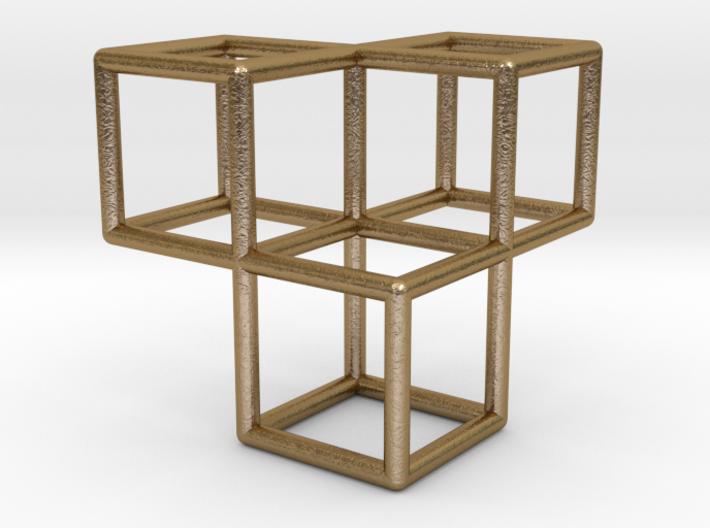 3 Cubes Pendant 3d printed