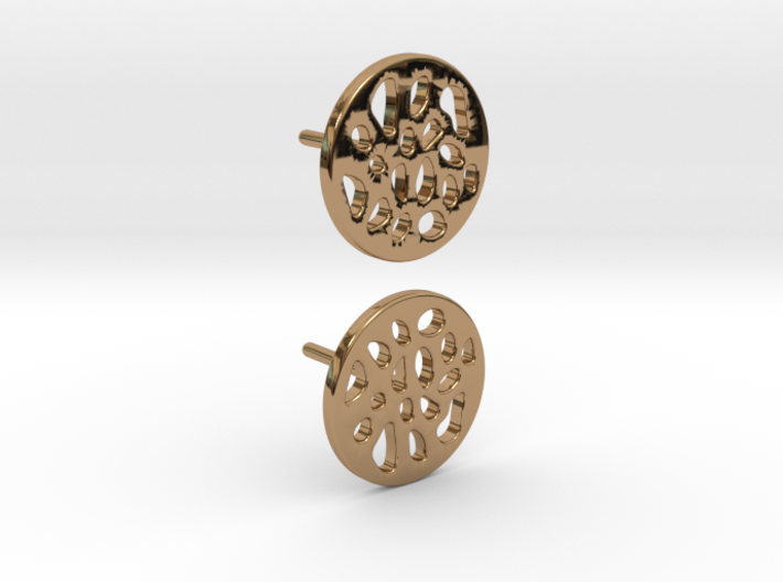 EARRINGS STUD LOBULAR  3d printed