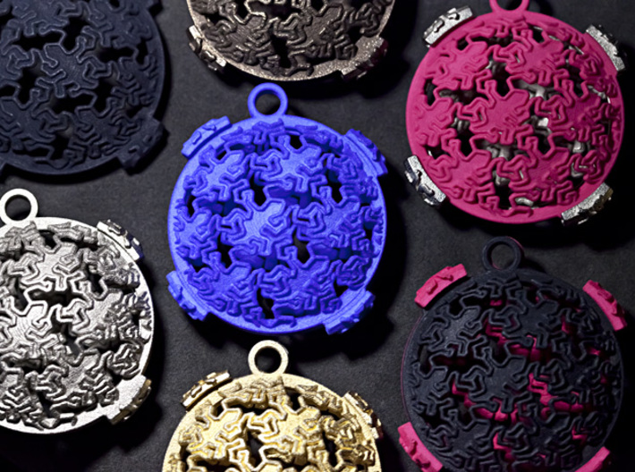 Reptile Pattern Pendant Interlocket BACK (requires 3d printed Photo with other prints, each sold separately.