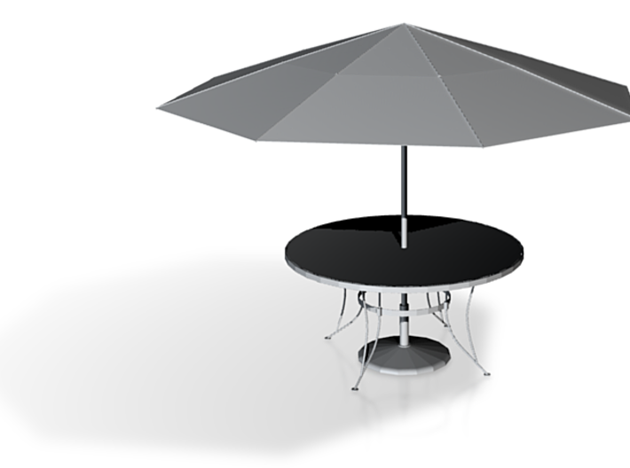Patio Table With Umbrella 3d printed