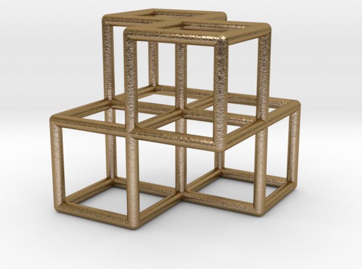 4 Cubes Pendant 3d printed