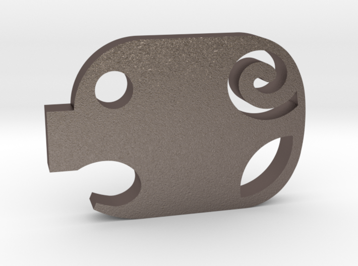 Mini Piggy Cutlet Keychain / Necklace 3d printed