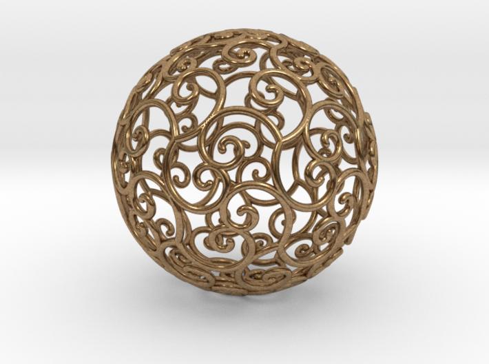 Triskel celtic sphere 3b ( 2,8+4 - 4 cm ) 3d printed