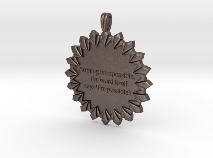 Nothing Is Impossible | Jewelry Quote Necklace. 3d printed