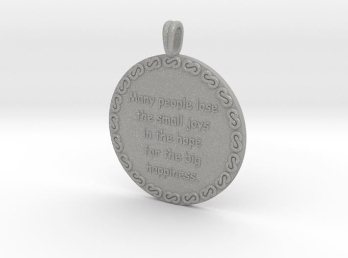 Many People Lose | Jewelry Quote Necklace. 3d printed