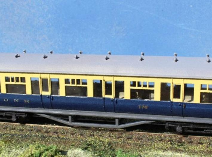 4mm scale GNR(i) K15 Open Coach 3d printed