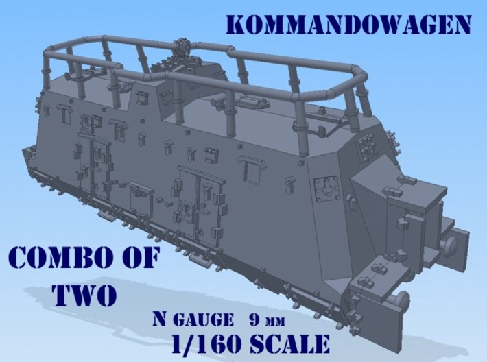 1-160 2x K-Wagen For BP-42 3d printed