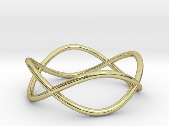 Size 7 Infinity Ring 3d printed