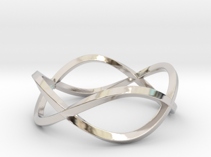 Size 6 Infinity Twist Ring 3d printed