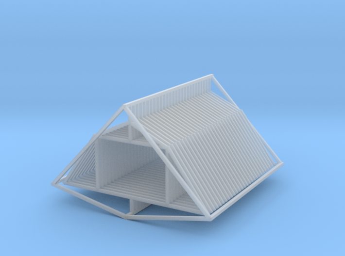 Gambrel Attic Truss 27 Z Scale 3d printed Gambrel Attic Truss 27 Z scale