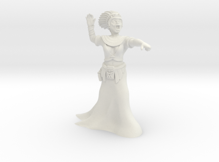 35mm Cleopatra Zombie Witch 3d printed