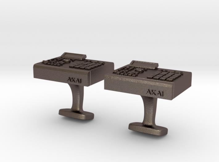 Akai MPC 2000 Cufflinks 3d printed