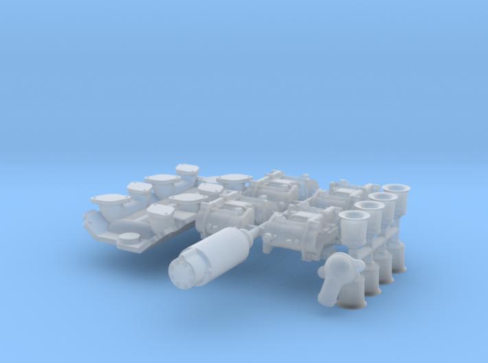 1/20 SBC Weber Intake System 3d printed