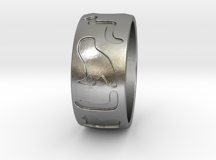 Hieroglyphes Ring 3d printed
