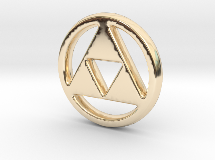 Triforce Charm - 11mm 3d printed