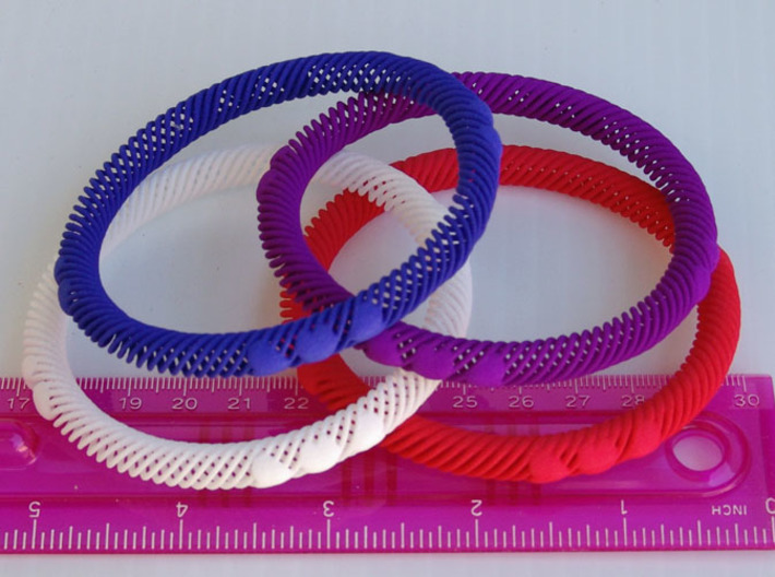 Bracelet Flexible 10 Hearts - 8mm 3d printed Strong & Flexible Material