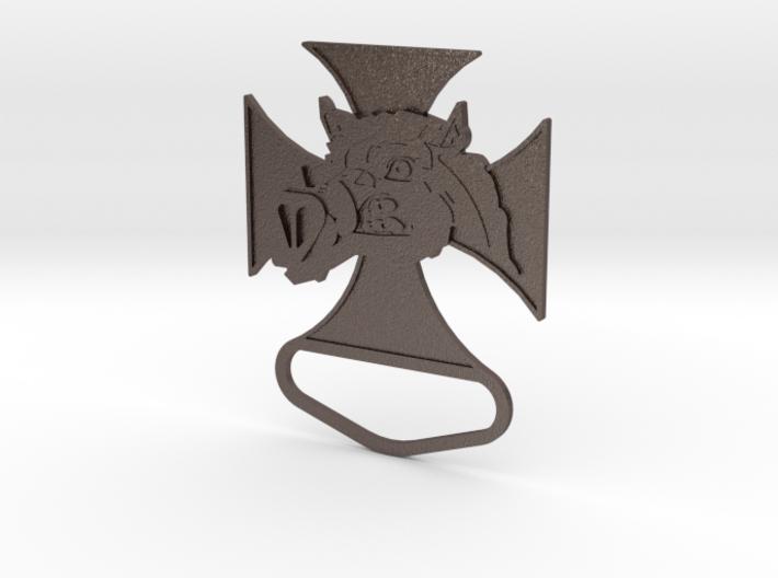 Renegade Pigs Motorcycle Club Badge solid loop v1 3d printed