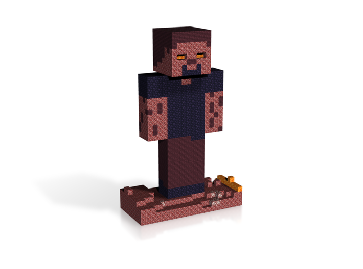 Herobrine Nether Statue 3d printed