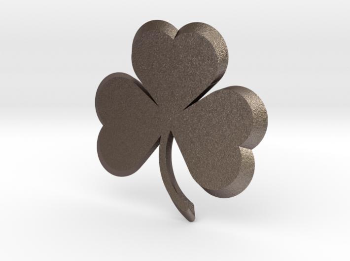 Customizable Shamrock Pendant 3d printed