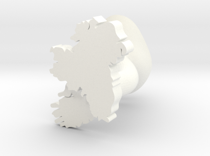 Leinster Cufflink 3d printed