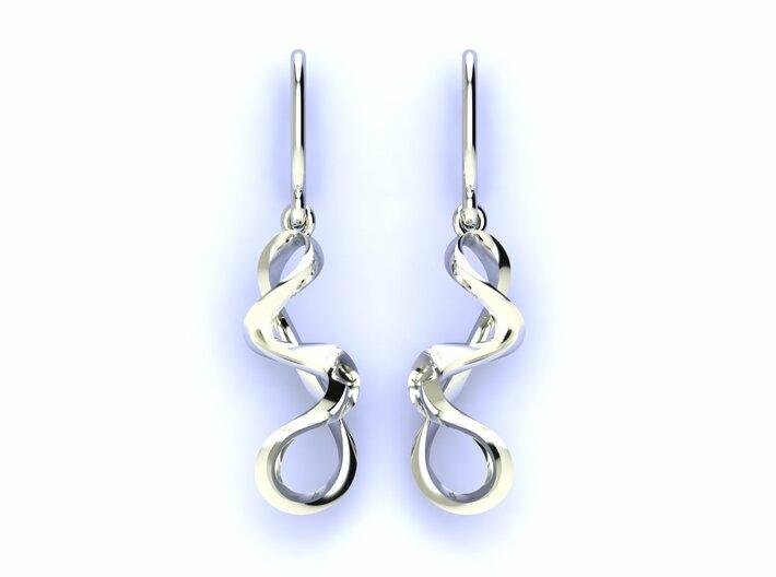 Turns in life earrings JD19E 3d printed