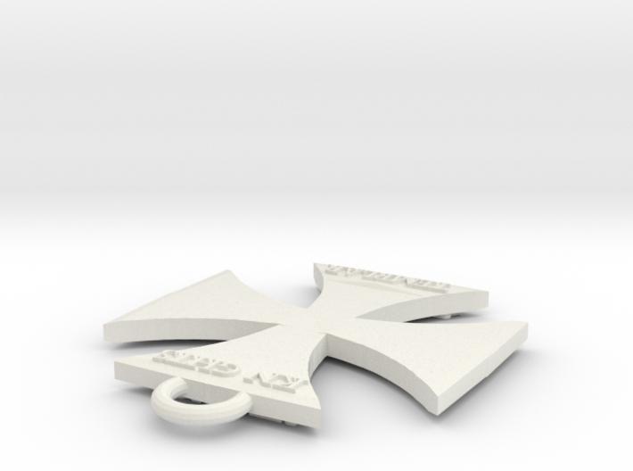 Templar-Keychain 3d printed