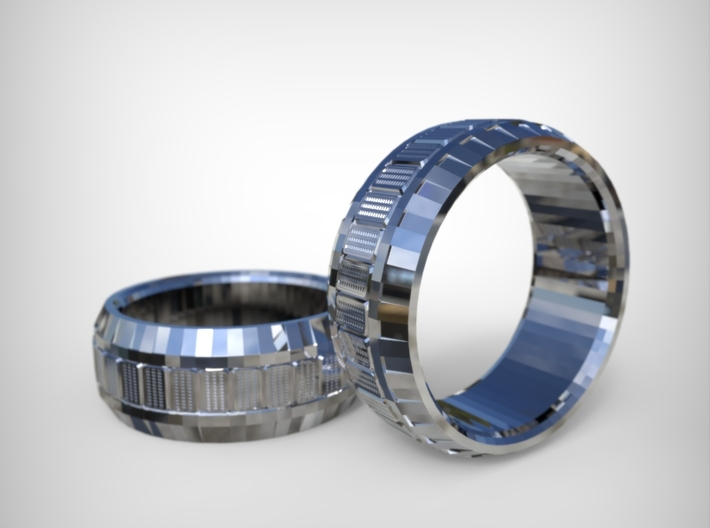 TECH Ring 3d printed