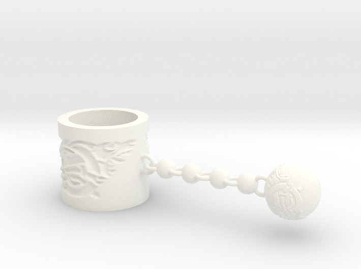 Norse Scarf Ring and charm 3d printed